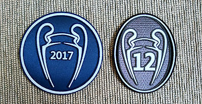 Parches Campeón UCL Champions 2017 + 12 copas para camiseta Real Madrid