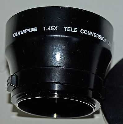 Olympus 200-540 1.45X Teleconverter Lens, w. 43 to 46mm conversion, front cap