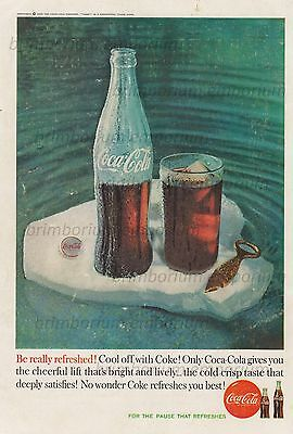 Coca-Cola COOL OFF WITH COKE! - Original Anzeige von 1960