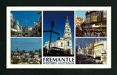Australia Vintage Large Postcard Views From Freemantle
