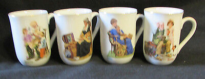 Norman Rockwell 1982 Museum Mugs Lot of 8