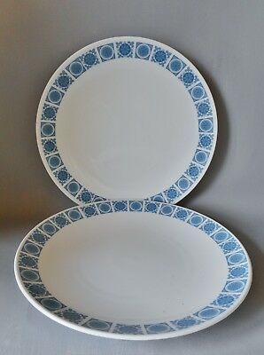 TWO ROYAL TUSCAN CHARADE PLATES 260mm PLATES VERY GOOD CONDITION