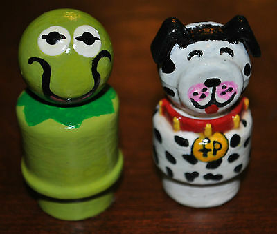 Fisher Price Custom Kermit The Frog And Dalmation Dog Little People Play Family