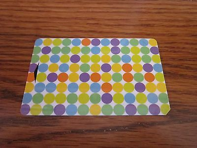 Hotel Key Card Hyatt Place Pretty Polka Dots Colorful Collectible FREE SHIP