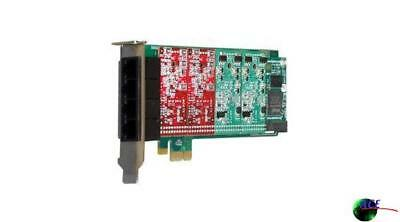 Digium 1A4B05F 4 Port Modular Analog PCI-Express Card with 4 Station Interfaces