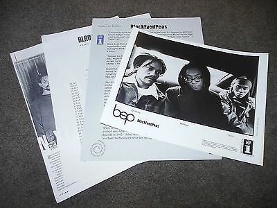 BLACK EYED PEAS Behind The Front 1998 Press Kit With 8x10 Promo Photo