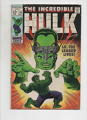 Marvel Comics    The Incredible Hulk #115    VG+ Condition