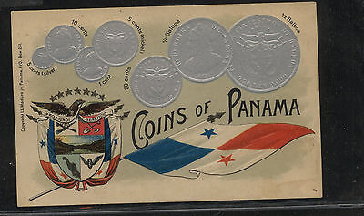 Panama  coins  post  card    unused        KL0527