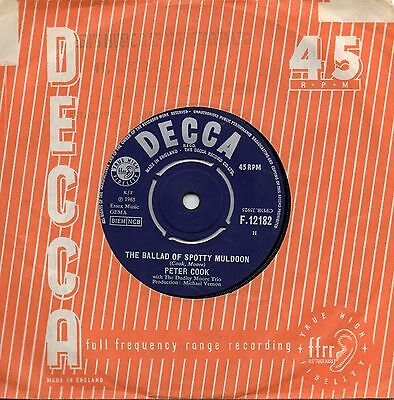 Peter Cook    The Ballad Of Spotty Muldoon/ Lovely Lady Of The Roses    Uk Decca