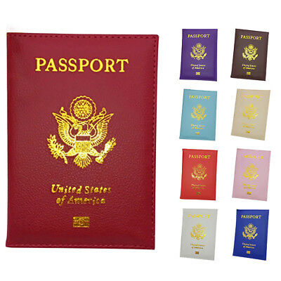Faux Leather Travel USA Passport Case ID Card Holder Cover Organizer Dazzling