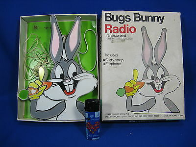 Rare Original Vintage Bugs Bunny Radio Warner Bros. 1973  Original Box