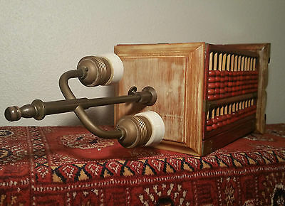 ANTIQUE adjustable abacus table lamp vtg japanese chinese statue art sculpture