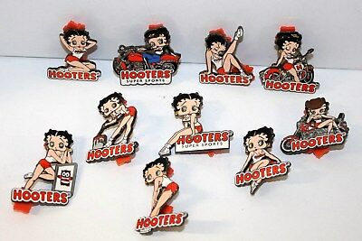 LOT OF 10 HOOTERS BETTY BOOP - Series 2005 Complete Series Set of 10 Lapel Pins