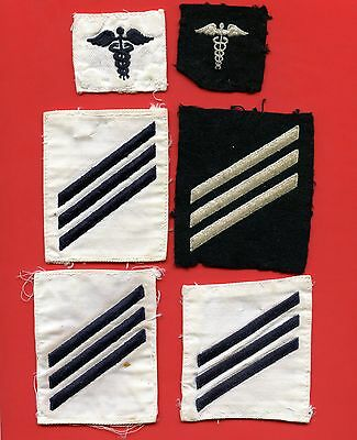 Lot Of 10 United States Navy Hospital Corpsman - Striker  & Seaman Patches