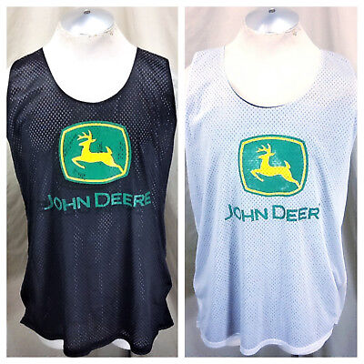 "John Deere ""Nothing Runs Like A Deer"" (Large) Retro Reversible Basketball Jersey"