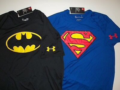 New Under Armour Men's sizing Alter Ego Superman or Batman Loose Fit t-shirt NWT