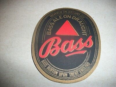 Vintage- Bass On Draught- Beer Mat- Mint