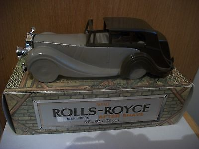 Avon- Rolls- Royce-Deep Woods After Shave- Full Decanter 6 Fl. Oz.