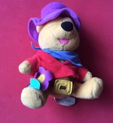 "Soft Toy.  Winnie The Pooh. Star Bean Mattel.  7"" Sitting"