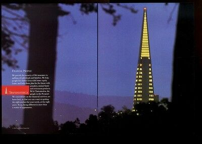 1993 Transamerica Insurance San Francisco pyramid building night photo ad