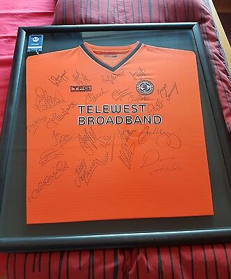 Rare Signed and Framed Dundee United Shirt 2002/3 season