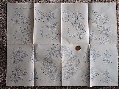 Vintage  Floral Embroidery Transfer Presented Free  From A Modern Woman Magazine