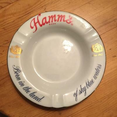 """HAMM'S BEER """"Born In The Land of Sky Blue Waters"""" ~ Ashtray ~ Made in Japan"""