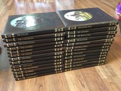 Time-Life Books THE OLD WEST 26 Volume Set Leatherette