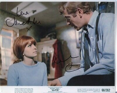ALFIE - personally DOUBLE signed 10x8 - MICHAEL CAINE & JANE ASHER as Annie