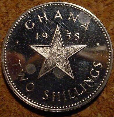 Only 20,000 Minted Proof 1958 2 Shillings Ghana*african State***