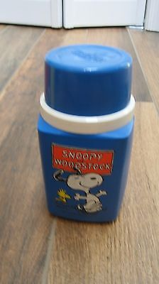 Peanuts Snoopy lunchbox Themos brand blue Snoopy thermos