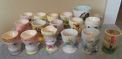 17 vintage egg cups for your collection