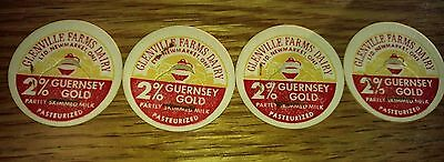 12 milk bottle caps pint Glensville farms dairy new market ontario free shipping