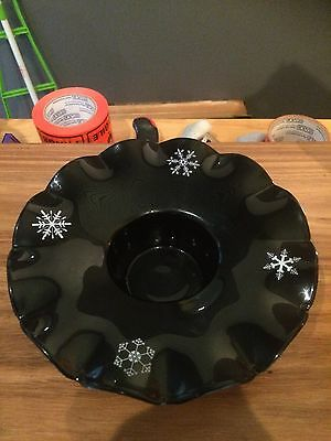 Davidson Glass Snowflake Flower Bowl