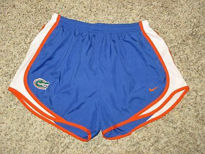 Women Nike Dri-Fit Florida Gators Tempo Running Shorts Sz Medium W/ Brief Liner