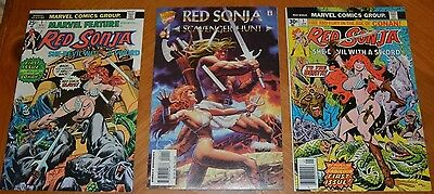 Red Sonja # 1 Comic Book Collection Lot Marvel Comics Hot She-Devil With A Sword