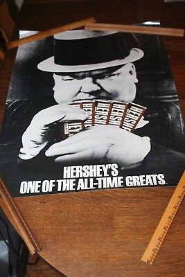 """1985 Hershey's One of the All Time Greats Poster w/ W.C. Fields 18"""" x 24"""""""