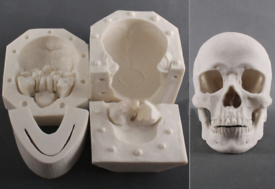 Life Size Human Skull Silicone Mould Silicon Mold Resin Plaster Clay Soap Cake