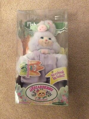 New BRIARBERRY HANNAHBERRY Plush Stuffed Bunny W/ STORYBOOK FISHER PRICE 1999