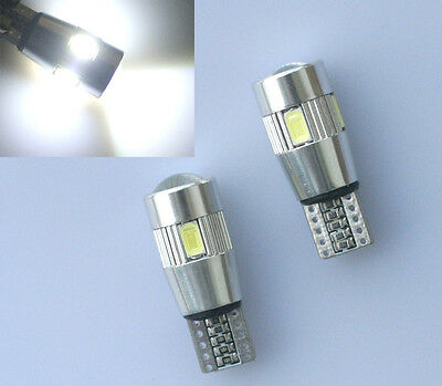 1x w5w T10 6 SMD 5630 CREE Chip LED XENON weiß Can-Bus Kein Standlicht DC 12V