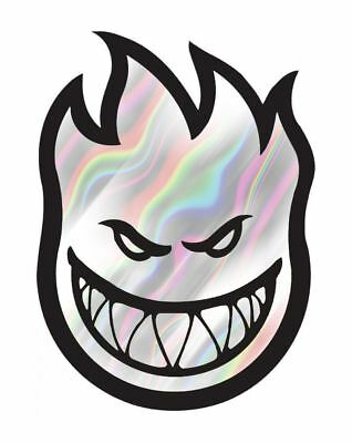 Spitfire Big Head Chrome Sticker - 7.5cm / 3""