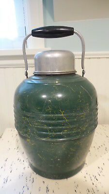 Vintage Antique ALADDIN SANI SEALD THERMAL JAR Jug Thermos,Mottled Green