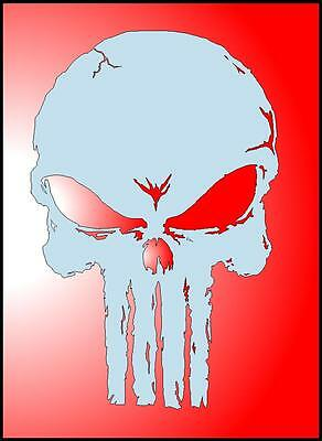 punisher skull airbrush stencil 14 00 picclick
