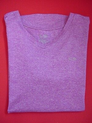 C9 CHAMPION Duo Dry Girls XL (14-16) Purple V-Neck Athletic/Running/Workout Top