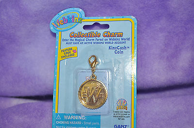 Webkinz  EXTREMELY  RARE KINZCASH COIN CHARMS  NWFC  ~ FAST SHIPPING!!