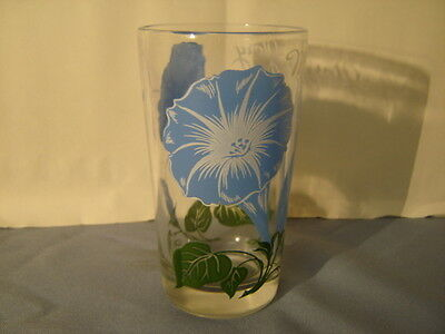 """Vintage Boscul Peanut Butter Morning-Glory 5"""" Drinking Glass Tumbler"""