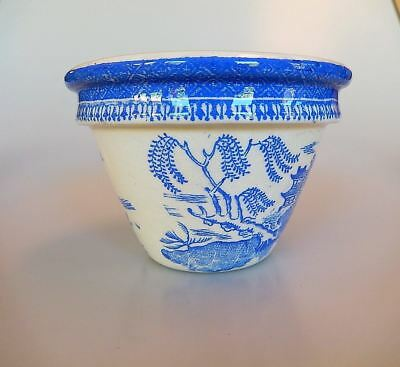 Maling Pottery Blue Willow Pattern Pudding Mixing Bowl