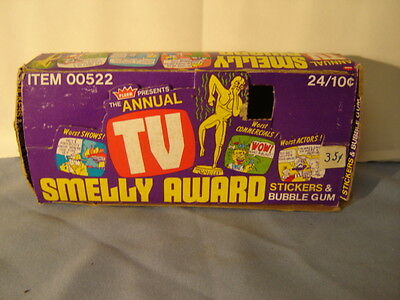Vintage Fleer Presents The Annual TV Smelly Award Stickers Gum Empty Display Box