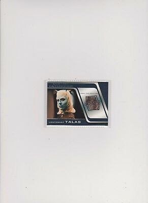 Enterprise Season 4 Costume Card C11 Lieutenant Talas (Silver)