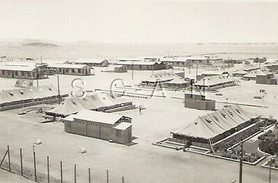 WWII Org German Army Large RP- DAK POW Camp- Lager 46/47- Camp Buildings- Africa